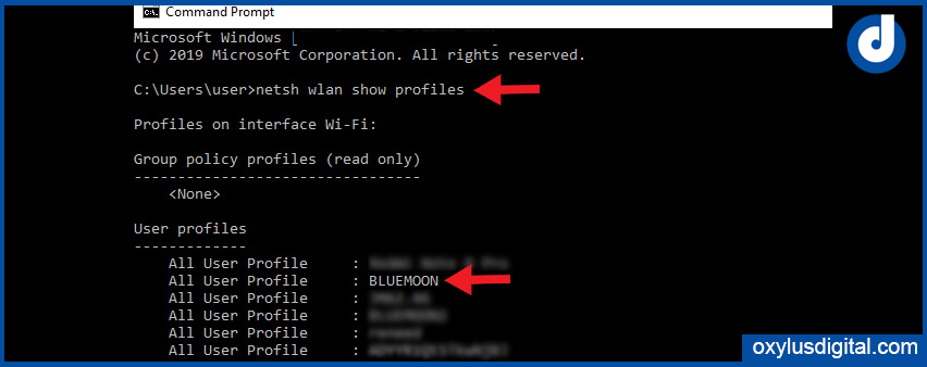 Find Wi-Fi Password Using Command Prompt