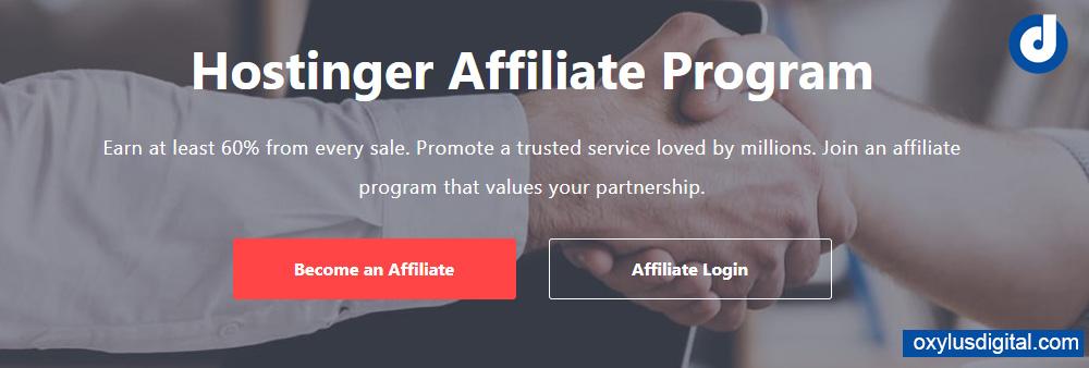 Create Hostinger Affiliate Program Account