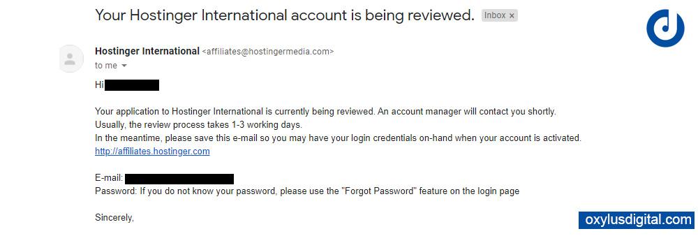 Hostinger International Affiliate Program Review Mail