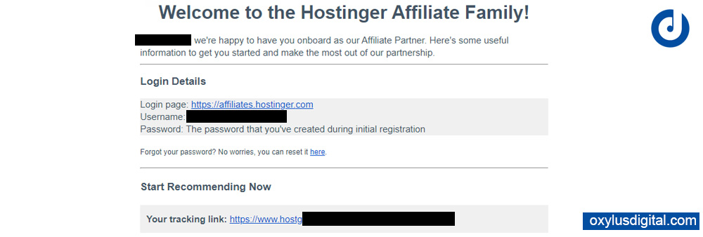 Hostinger International Affiliate Program Mail After Account Review