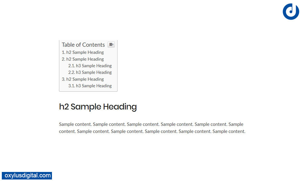 How to Create Table of Content in WordPress