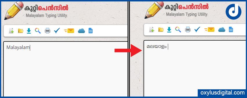 Kuttipencil Manglish to Malayalam