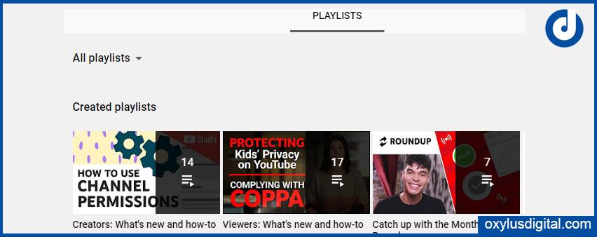 YouTube Playlists Example