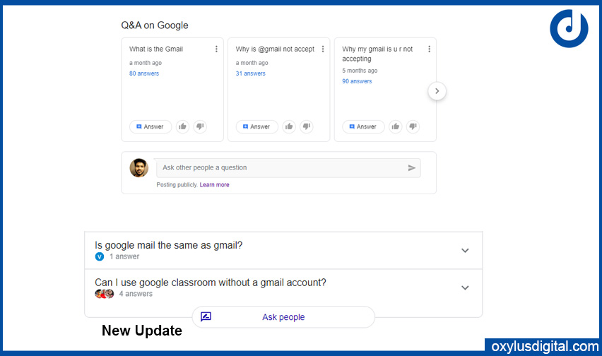 Ask Question Google Search