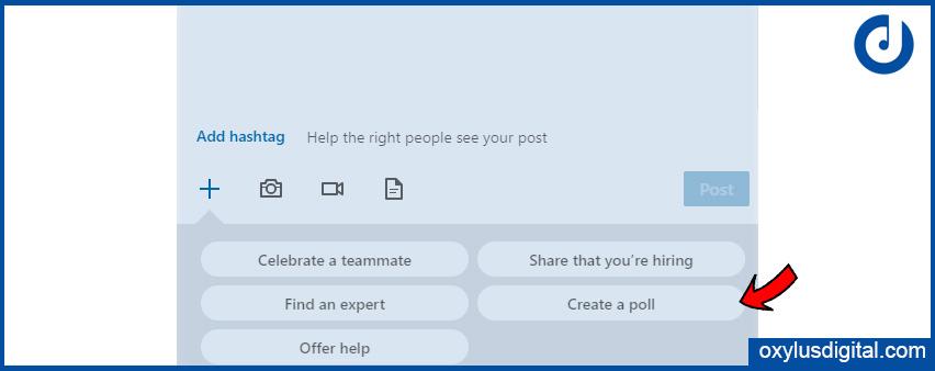 Click on Create a poll