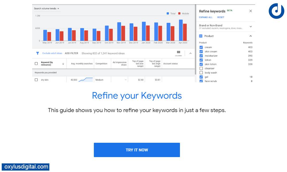 How To Refine Keywords in Google Keyword Planner