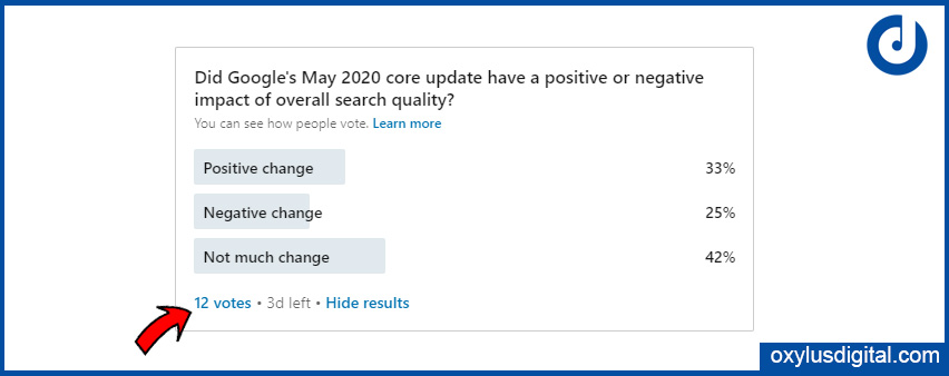How to View LinkedIn Votes