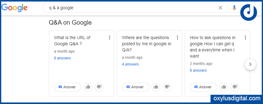 Ask & answer questions on Google Search