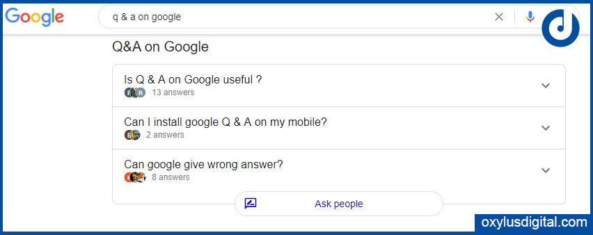 Updated View of Q&A On Google SERP