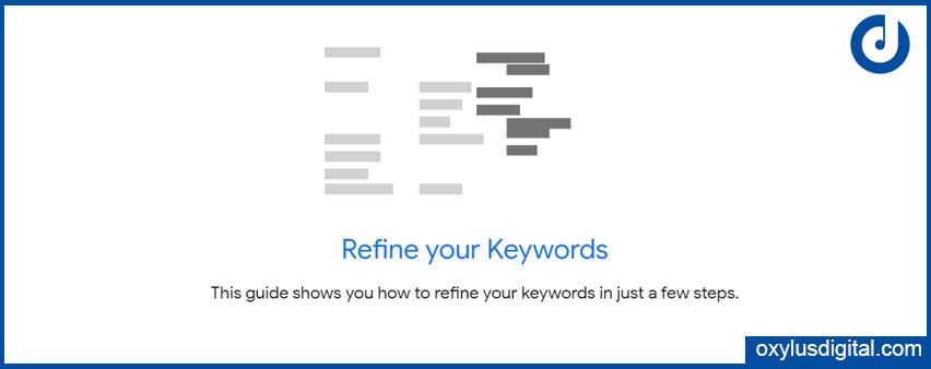 refine keywords in Keyword Planner