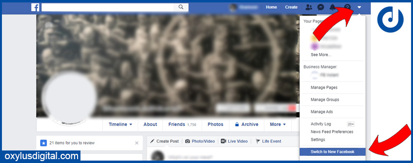 Switch to the New Facebook Interface