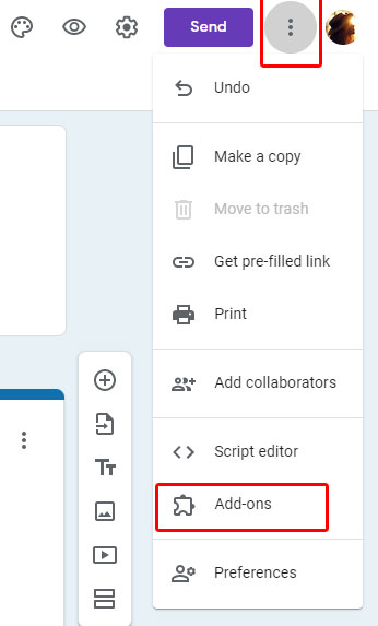 Add-ons in Google Forms