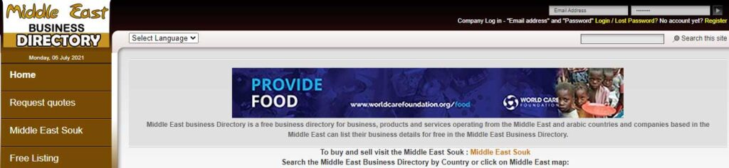 Middle East business Directory